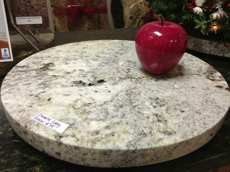 White Springs Granite Lazy Susan Approximately 16 Quot Only