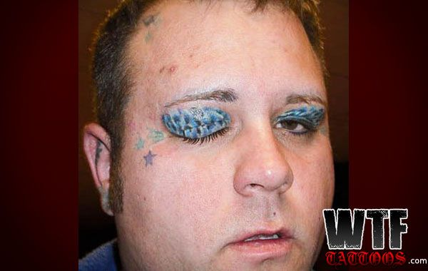 Wtf tatoos permanent makeup wtf tattoos tattoos for Face tattoos gone wrong