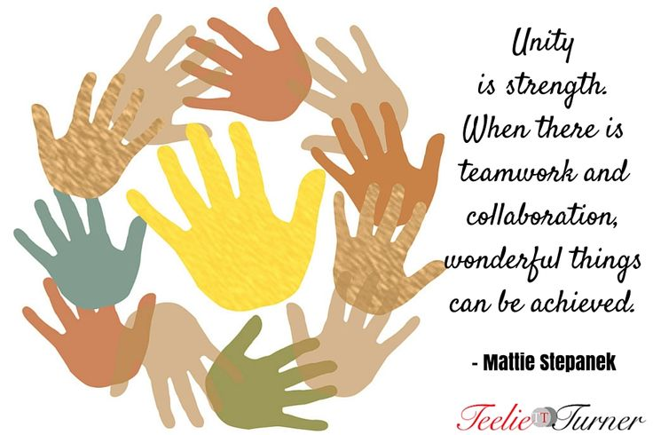 Quotes of the Day www.teelieturner.com Unity is strength. #inspirationalquotes
