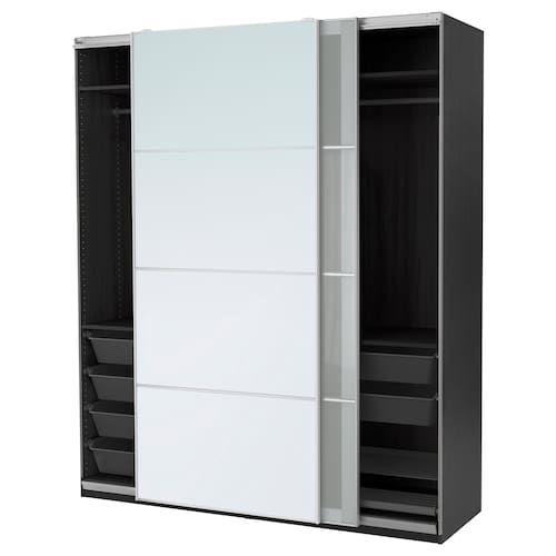 IKEA PAX White, Sekken Frosted Glass Wardrobe Pax
