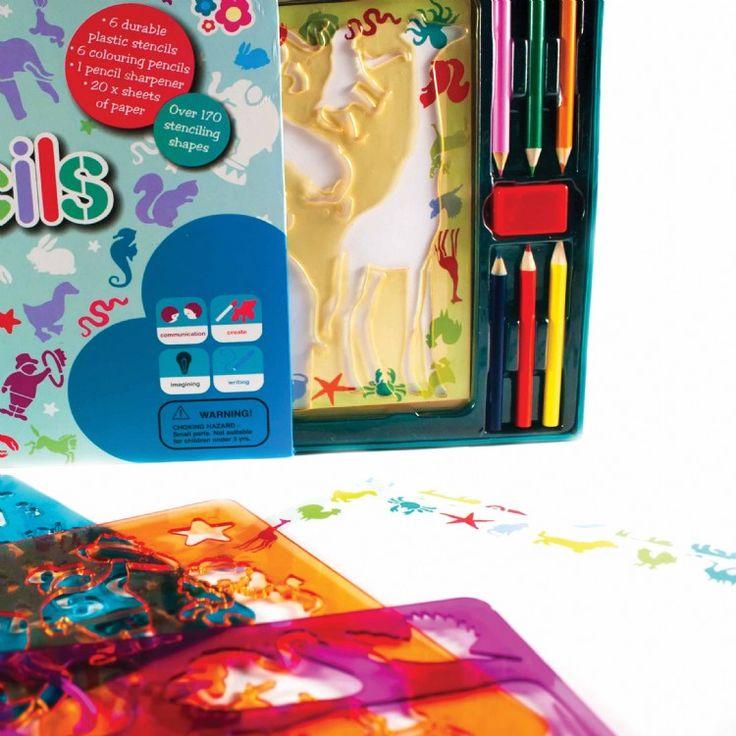 SET GIGANTE DE PLANTILLAS MUNDO ANIMAL Contiene 6 plantillas gigantes con más de 170 formas para decorar, 20 escenarios predecorados, 6 lápices de colores y 1 sacapuntas. Fomenta la comunicación, la creatividad y la imaginación.   Recomendado para más de 3 años Medidas aproximadas: 2,5 X 33 X 22,5 cm PVP: 15,40 € #manualidades #pinturaparaniños http://www.babycaprichos.com/set-gigante-de-plantillas-mundo-animal.html