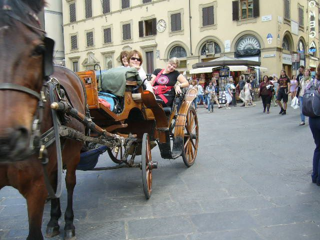 A good opportunity to rest the feet and see the sights in Florence in a regal kind of way.