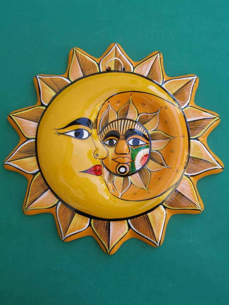 24 best Clay Suns images on Pinterest | Mexican folk art, Hand ...