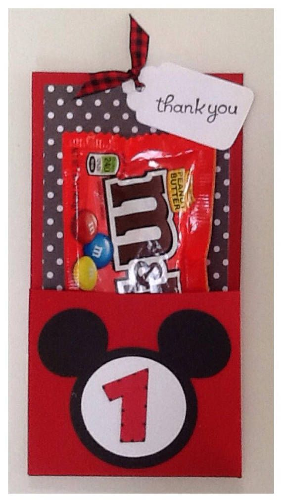Disney Mickey Mouse 1st Birthday Party Favor Quantity 1