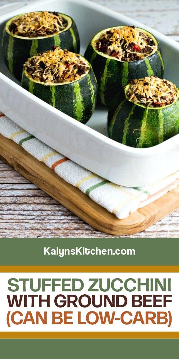 Stuffed Zucchini With Ground Beef Kalyn S Kitchen Recipe In 2020 Zucchini Recipes Zucchini Ground Beef