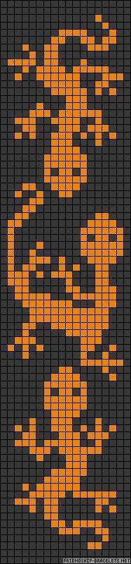 Lizard Wayuu Mochila pattern A476 - friendship-bracelets.net