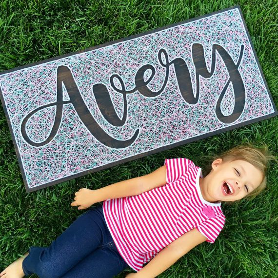 String Art Name Board - Negative Space- EXTRA LARGE Board- Reverse String