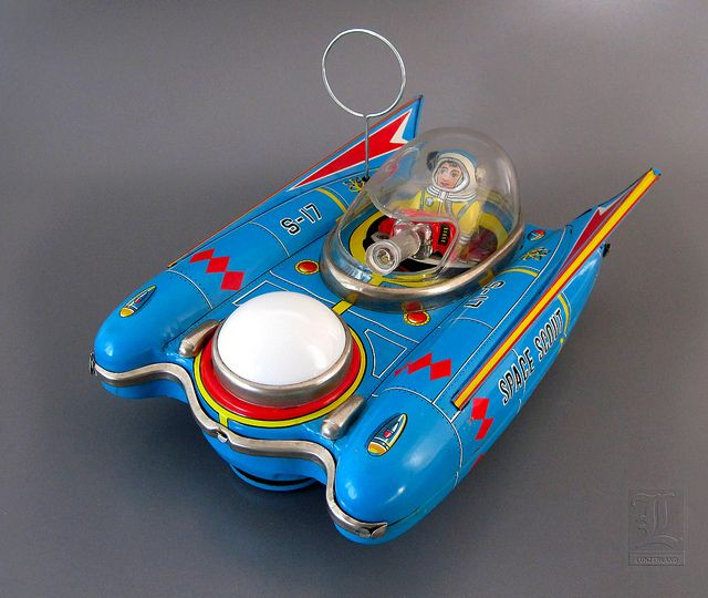 Yanoman SPACE SCOUT S-17 vintage battery-operated space toy from Japan by LUNZERLAND., via Flickr