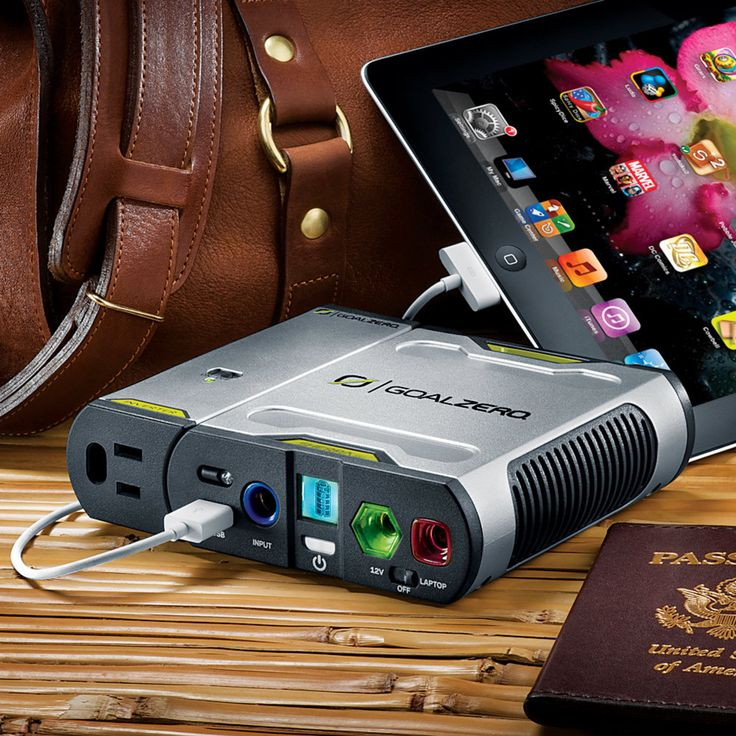 15,600 mAh battery - 12Volt - built-in laptop port Recharges in 3-4 hours via included AC wall charger or 12V car adapter.
