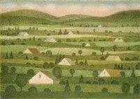 Landscape near Stachy by Ludmila Jirincova-Novakova