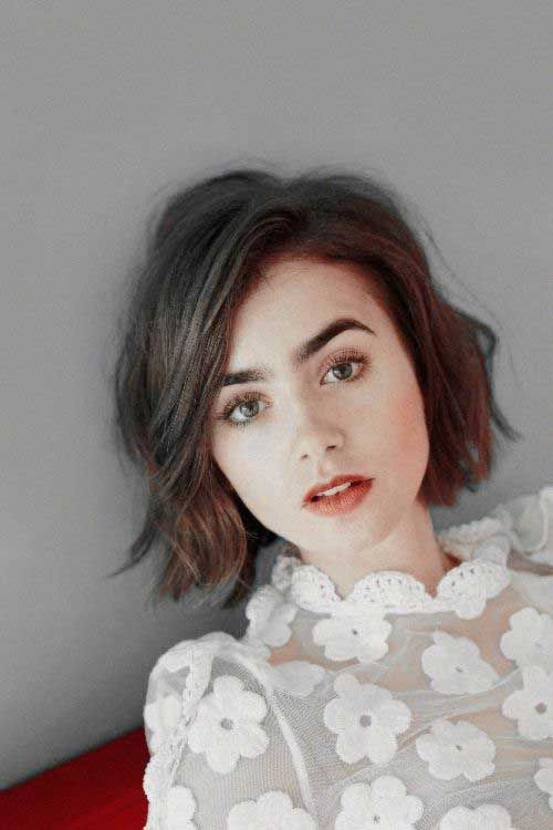Party Jordan Hairstyles For Short Hair : Best 25 lily collins haircut ideas on pinterest