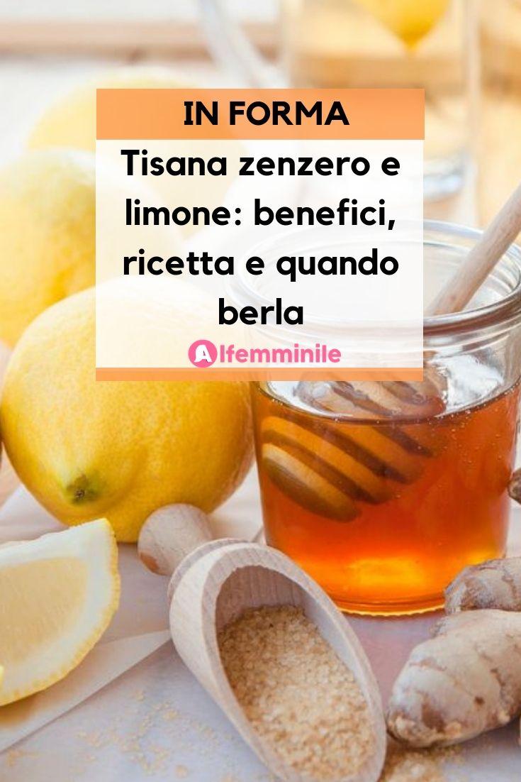 te zenzero e limone benefici