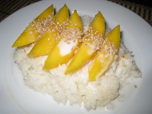 Not much of an image but a beautiful recipe! Thai sticky rice and mango is one of my favorite desserts -- can't wait to try this tonight!