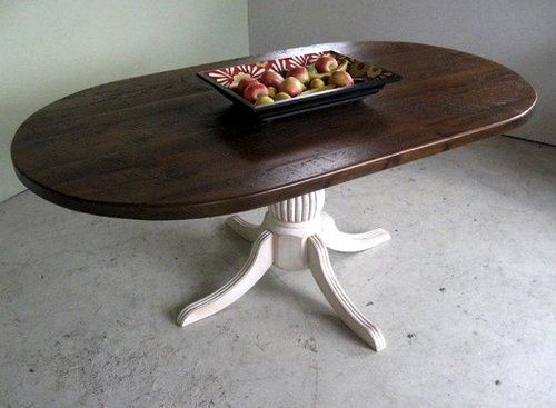 Rustic Oval Dining Room Table pedestals: a collection of ideas to try about other | dining