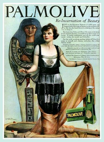 Those ancient Egyptian princesses would have used Palmolive Soap had it been available (1920).