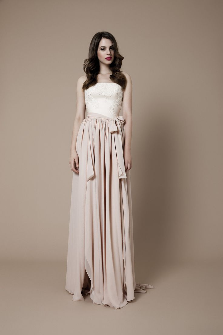 Blush pink corset with a silk georgette skirt