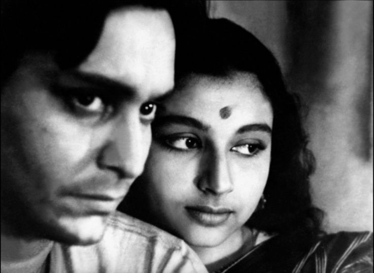 Soumitra Chatterjee and Sharmila Tagore in Apur Sansar, the last film in the Apu Trilogy.