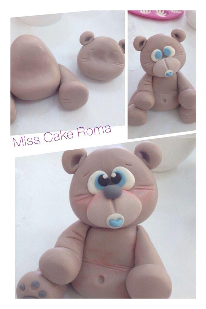 Teddy little bear  #fondant #fimo #teddy #bear #cakedecorating #cakedesign #misscake #sugar #diy #yummy