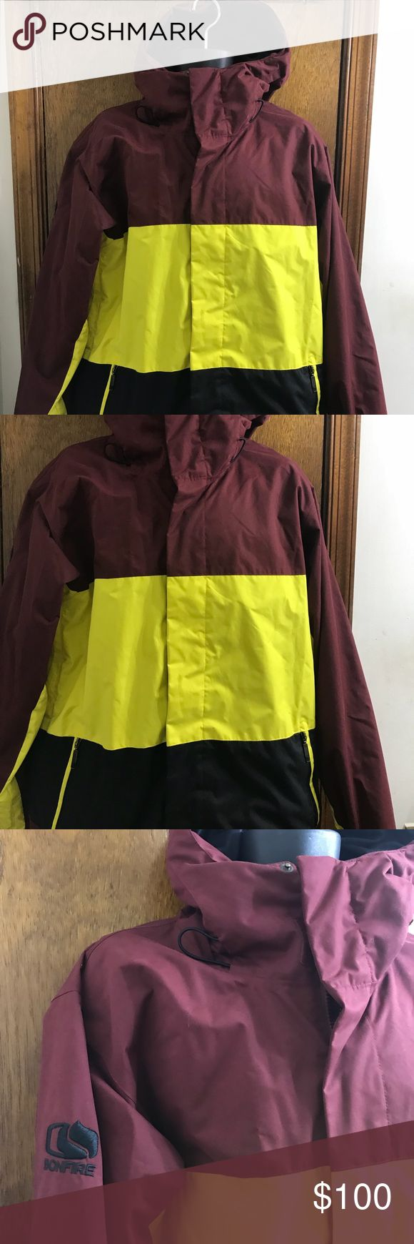 """Bonfire snowboarding company jacket size large Style dry level 1 men's size large classic fit 10k waterproof 8k breathable Pit to pit 24"""" Sleeves 27"""" Shoulders 21"""" Length 31"""" bonfire snowboarding company Jackets & Coats"""