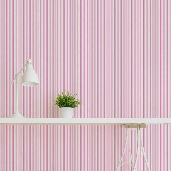 1000 ideas about pink stripe wallpaper on pinterest for Striped wallpaper bedroom designs