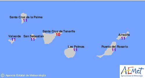 Índice de radiación UV extremos en Canarias    Los índices de valores de radiación extremos en Cana...