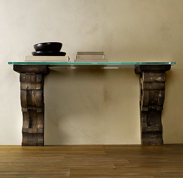 Corbel Glass Console Www Rh Com Furniture Pinterest