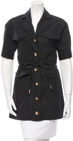 Louis Vuitton Notch-Lapel Belted Tunic