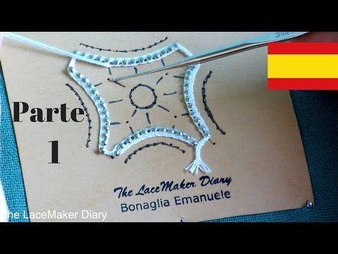 Encaje de bolillos | Araña de Cantù - parte 2 - YouTube