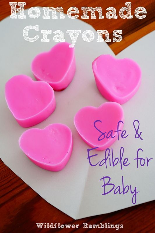 Valentine's Day Heart Crayons {baby-safe and edible recipe!}