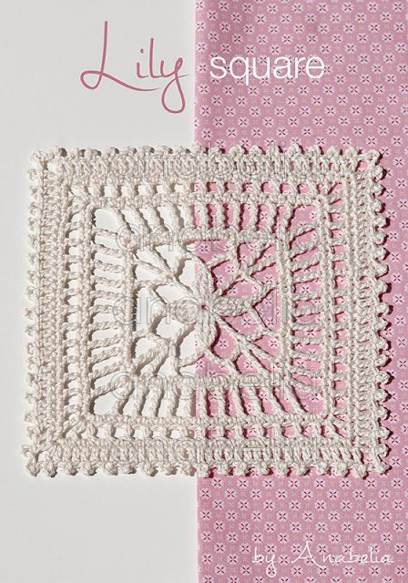 Summery Japanese-inspired crochet square - PDF
