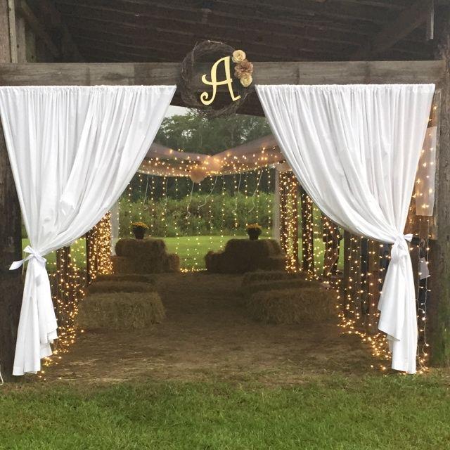 Homemade Pole Barn Wedding