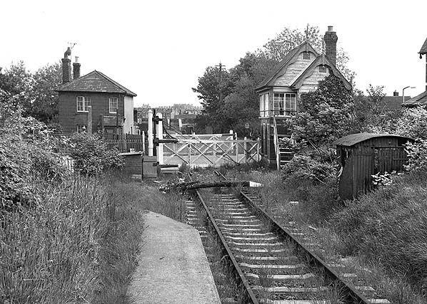 Disused Wesham Halt Train Station: Abbotsbury Road, level crossing. Weymouth, Dorset.