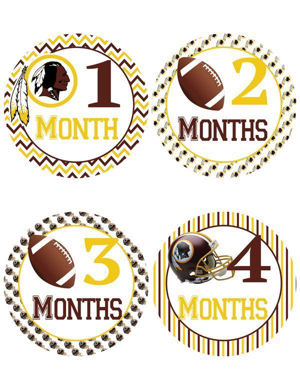 Washington Redskins Baby Milestone Stickers ~  Baby Belly Stickers (350) - http://baby.goshoppins.com/announcements-keepsakes/washington-redskins-baby-milestone-stickers-baby-belly-stickers-350/