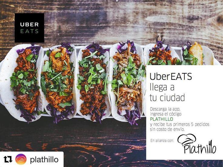 """#Repost @plathillo (@get_repost)  #Ubereats ya llego a Hermosillo! Utiliza el código """"PLATHILLO"""" y tus primeras 5 órdenes el envío será SIN COSTO!!  Descarga la app de @ubereats_mex e ingresa el código PLATHILLO  #QuieroUberEATS #plathillo #hermosillo #ubereats #hmo #uber #eats #food"""