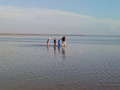 Crabbing in the estuary in Mandurah WA.