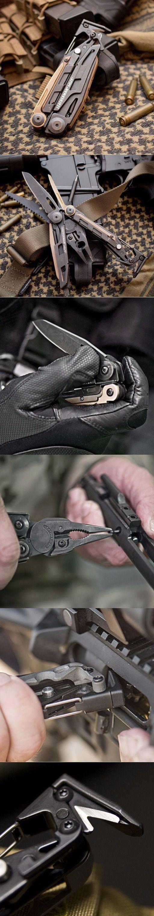 Leatherman - MUT EDC Multi Tool Rifle Maintenance Tool, Black with Molle Brown Sheath