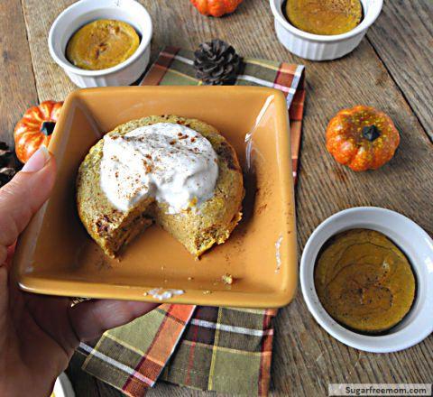 Pumpkin custard. 5 net carbs  For THM, use coconut milk or buttermilk instead of the 1%.