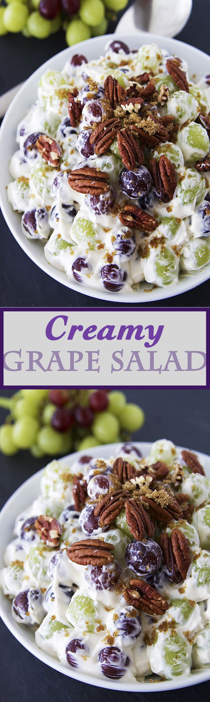 fashion sport shoes Creamy Grape Salad   One of the most addicting fruits salads ever