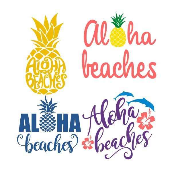 Aloha Beaches Pack SVG Cuttable Design