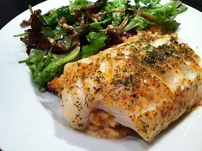 Everything Tasty from My Kitchen: Baked Scrod with Crabmeat Stuffing