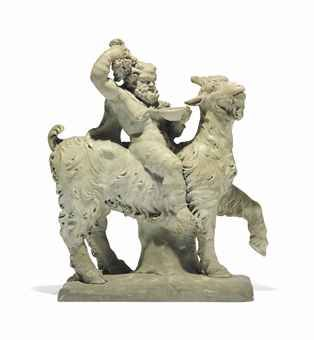 A ROMAN MARBLE GROUP OF SILENUS RIDING A GOAT - Christies - Collection of Sir Albert Richardson