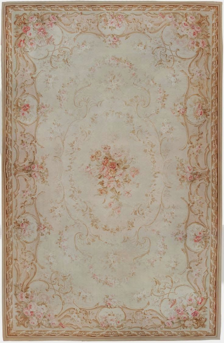 Sew French: Beautiful Aubusson Rug ~ Shabby Chic decorating ~ Pale Pink ~ French Decorating