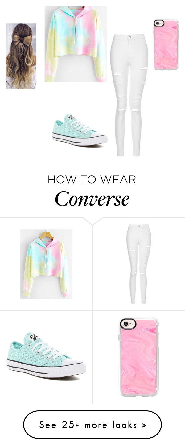 """""""Something......."""" by keefesencen on Polyvore featuring Topshop, Converse and Casetify"""