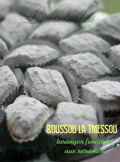 Boussou la tmessou: losanges fondants aux sésames