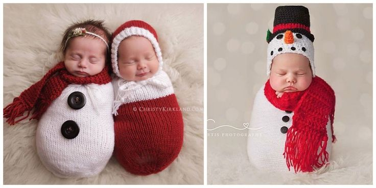 These 17 Newborn Babies Wearing Knitted Christmas Outfits Will Fill Your Heart With Cheer   - CountryLiving.com