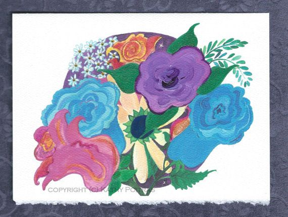 Another Crazy Bouquet. Floral greeting card by KathyPoitrasArt