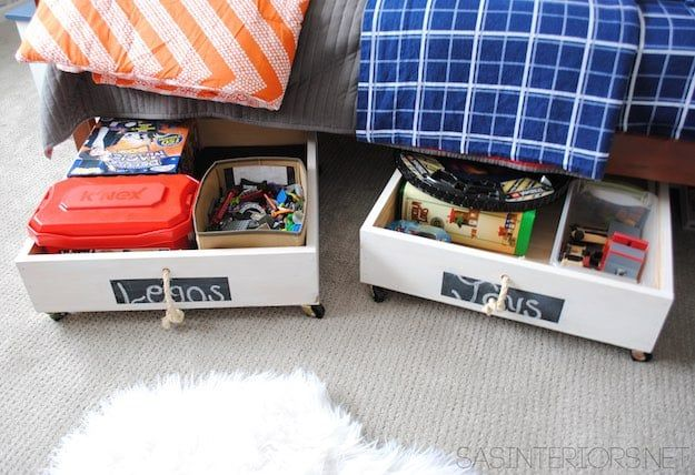 25 best under bed organization ideas on pinterest ikea - Dorm underbed storage ideas ...