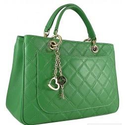 Italian Leather Handbag: Green Ray Mousse Calfskin. Made by Italian artisans at Carbotti. €185.00   #djante.com