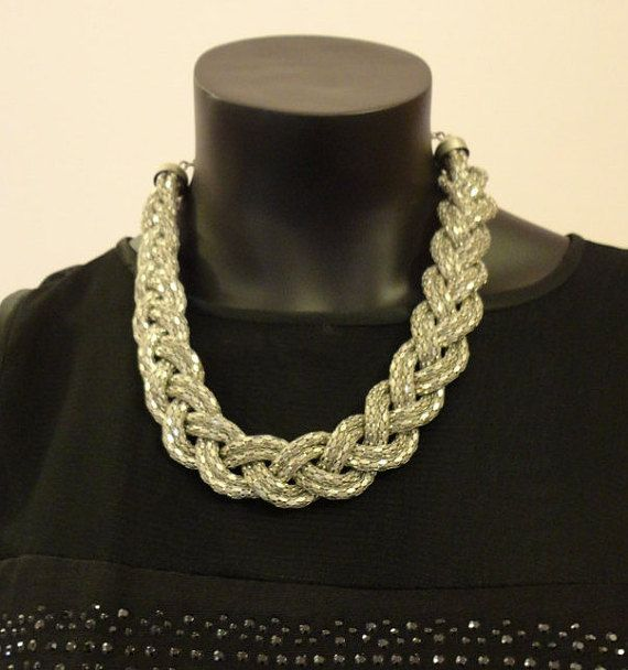 Metal Looped Necklace by OMyGlam on Etsy