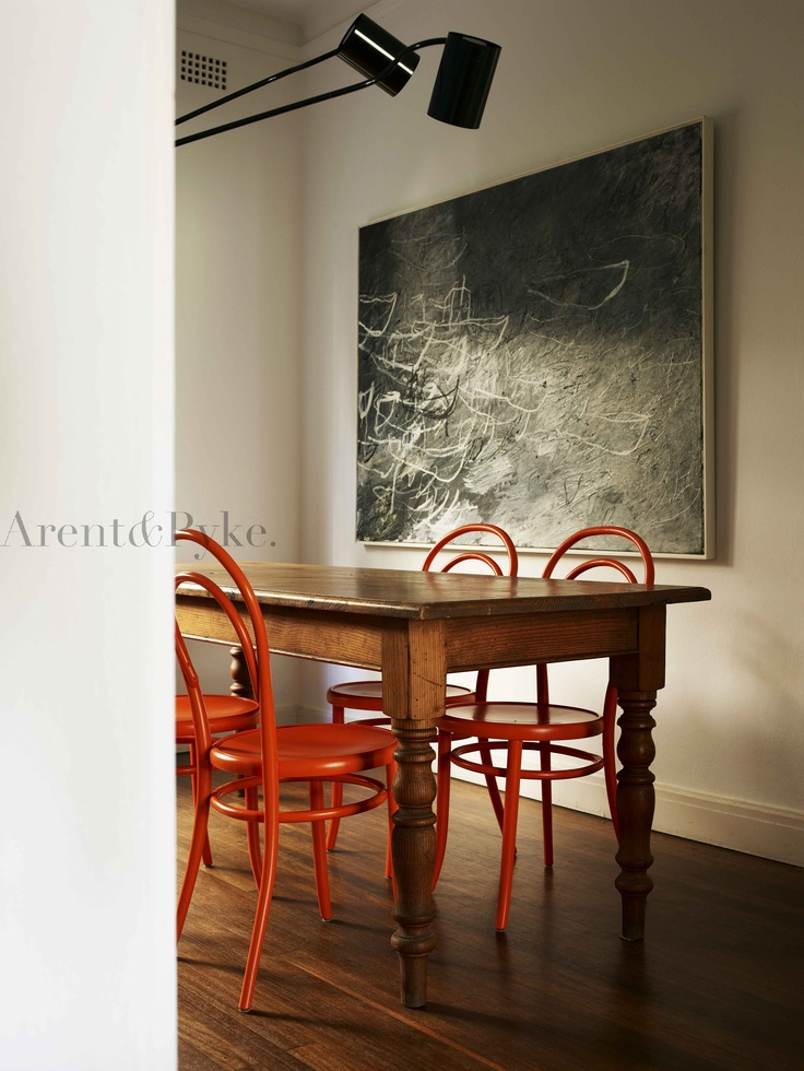 #darlingpoint #dining #thonet #redchair #arentpyke #arent #pyke